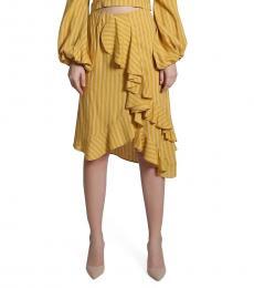 Self Stitch Stripe Ruffle Skirt