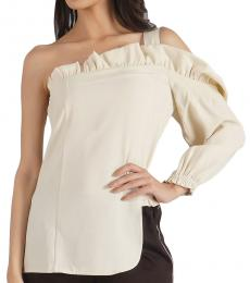 Self Stitch Two-Way Tuck One Shoulder Top