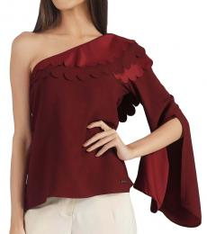 Self Stitch Scallop One Shoulder Top
