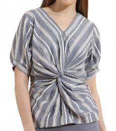 Self Stitch Stripe Centre Twist Top
