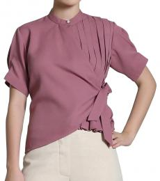 Self Stitch Box Pleat Wrap Top