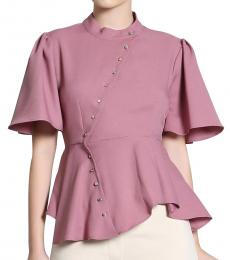 Self Stitch Diagonal Peplum Shirt
