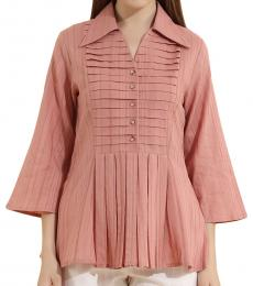 Self Stitch Pleat Fit and Flare Top