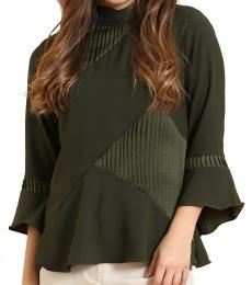 Self Stitch High Neck Pleat and Play Top