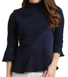 High Neck Pleat and Play Top