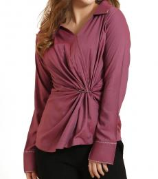 Self Stitch Pink Twist Buckle Top