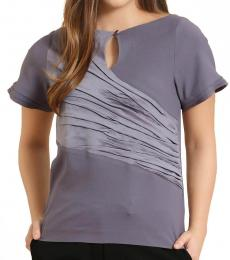 Pressed Textured Gathered Top