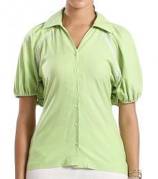 Self Stitch Puff Sleeve Shirt