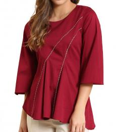 Self Stitch Red Bell Panelled Top