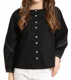 Self Stitch Structured Oversized Sleeve Top