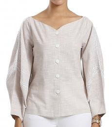 Self Stitch Laced Structured Sleeve Top