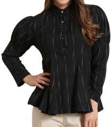 Black Juliet Sleeve Top