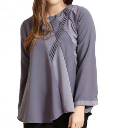 Self Stitch Grey Hued Panel Top
