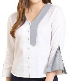 Self Stitch Zip Open Sleeve Shirt