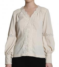 Self Stitch Grace Beige Embellished Blouse