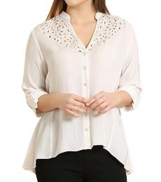 Self Stitch High Low Embellished Shirt