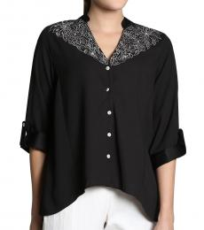 Self Stitch High Low Embellished Shirt