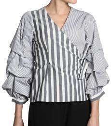 Two Stripe Wrap Top