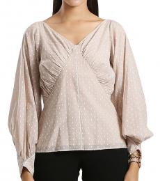 Dobby Ruched Top