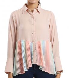 Self Stitch Ombre Pleated Shirt