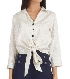 Self Stitch Tie Knot Polka Shirt