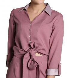 Self Stitch Light Purple Tie Knot Top