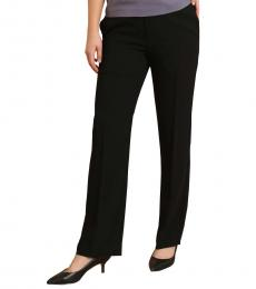 Self Stitch Black Tailored Straight Pants