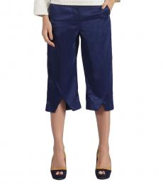 Self Stitch Satin Finish Crop Trousers