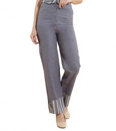 Self Stitch Straight Cuff Roll Up Pants